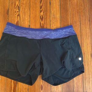 Lululemon purple and black shorts